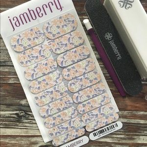 Jamberry Almond Bouquet Nail Wrap